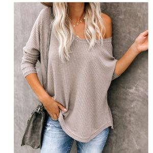 ANNETTE Knit Thermal Long Sleeve Top